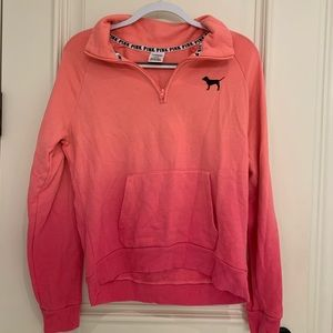 Pink Quarter-Zip Sweatshirt